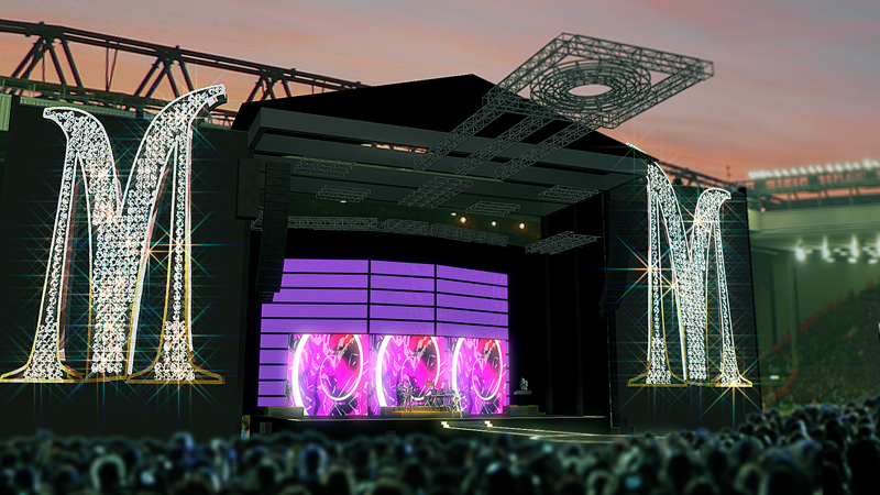 Sticky And Sweet Tour Stage